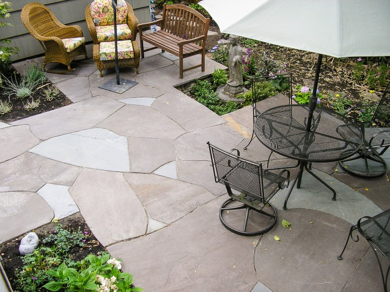Eric Contey Stonework - Back yard patio